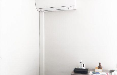Climatisation réversible en remplacement de radiateurs électriques