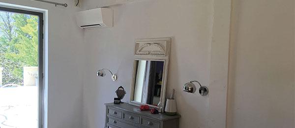 Climatisation pour chambres dans un mas