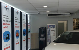 équipement d'un hall de vente en climatisation